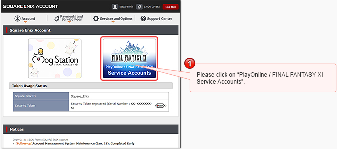 Transferring to a Square Enix Account