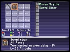 Grips, FFXI, Equipment